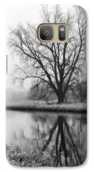 Tree Reflection In The Fox River On A Foggy Day Galaxy S7 Case
