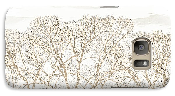 Galaxy Case featuring the photograph Trees Silhouette Brown by Jennie Marie Schell