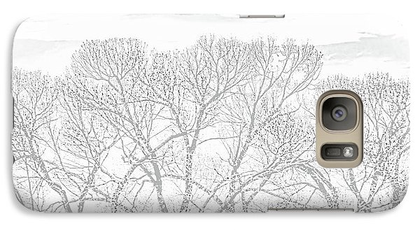 Galaxy Case featuring the photograph Tree Silhouette Gray by Jennie Marie Schell
