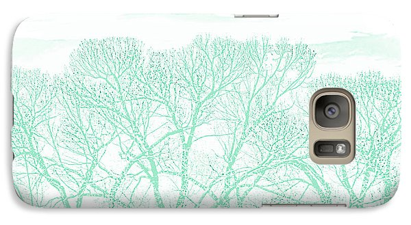 Galaxy Case featuring the photograph Tree Silhouette Teal by Jennie Marie Schell