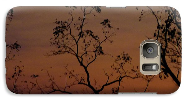 Galaxy Case featuring the photograph Tree Top After Sunset by Donald C Morgan