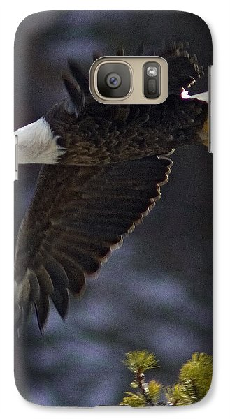 Galaxy Case featuring the photograph Tree Top Flight-signed by J L Woody Wooden