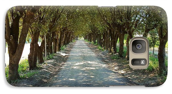 Galaxy Case featuring the photograph Tree Tunnel by Valentino Visentini