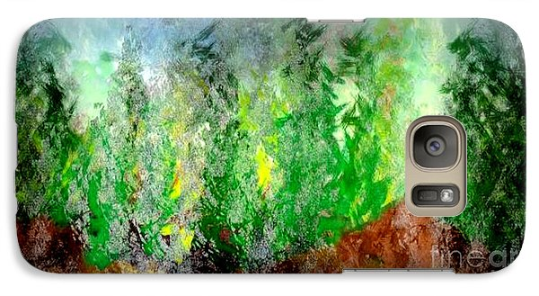 Galaxy Case featuring the painting Trees 4 by John Krakora