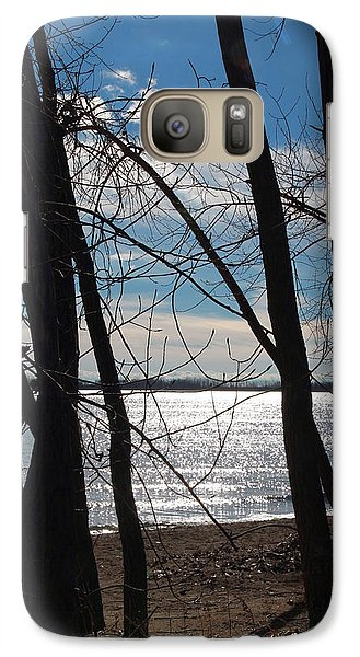 Galaxy Case featuring the photograph Trees And Lake Reflections by Valentino Visentini