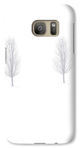 Galaxy Case featuring the photograph Trees And Snow by Daniel Thompson
