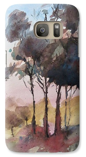 Galaxy Case featuring the painting Trees by Geni Gorani