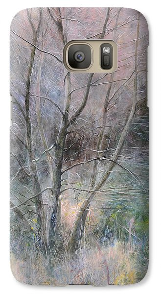 Galaxy Case featuring the painting Trees In Light by Harry Robertson