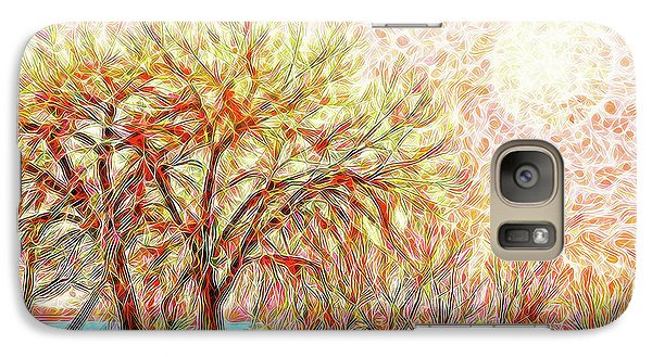 Galaxy Case featuring the digital art Trees In Winter Under Full Moon At Dusk by Joel Bruce Wallach