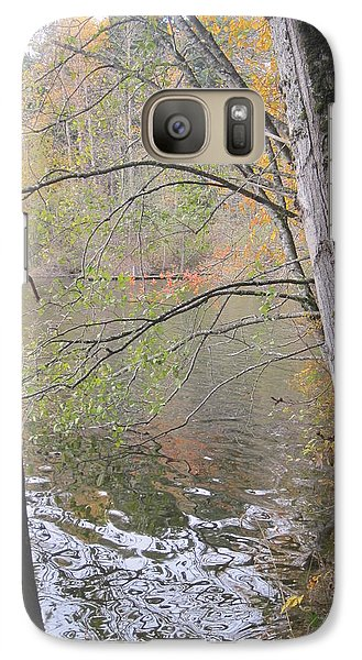 Galaxy Case featuring the photograph Trees On Lake Padden by Karen Molenaar Terrell