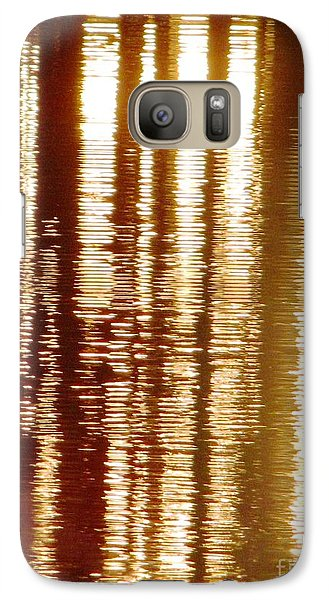 Galaxy Case featuring the photograph Trees On Rippled Water by Melissa Stoudt