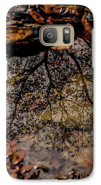 Galaxy Case featuring the photograph Tree's Reflection by Iris Greenwell