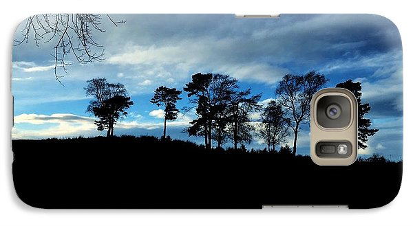 Galaxy Case featuring the photograph Trees by RKAB Works
