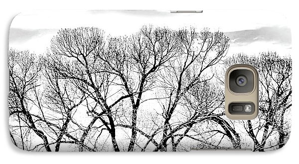 Galaxy Case featuring the photograph Trees Silhouette Black And White by Jennie Marie Schell