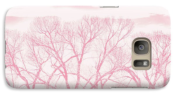 Galaxy Case featuring the photograph Trees Silhouette Pink by Jennie Marie Schell