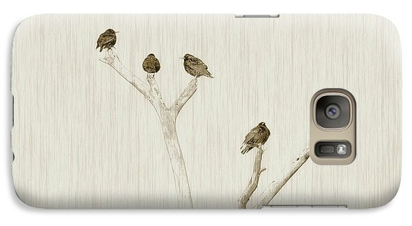 Treetop Starlings Galaxy S7 Case by Benanne Stiens