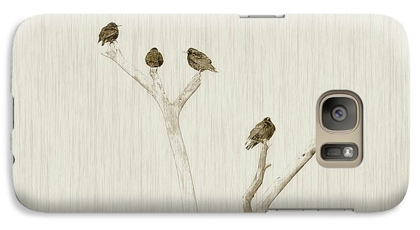 Treetop Starlings Galaxy Case by Benanne Stiens