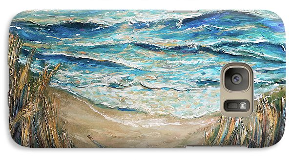 Galaxy Case featuring the painting Trek To The Surf by Linda Olsen