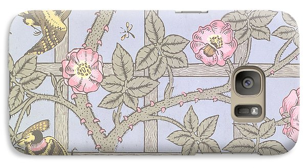 Trellis   Antique Wallpaper Design Galaxy S7 Case