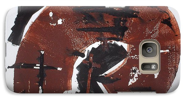 Galaxy Case featuring the mixed media Tres Cruces by Erika Chamberlin