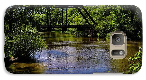 Galaxy S7 Case featuring the photograph Trestle Over River by Mark Myhaver