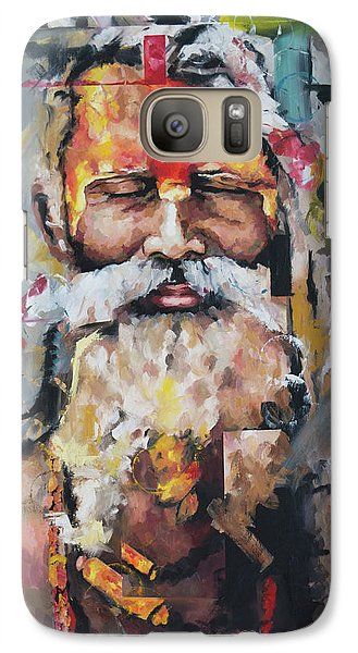 Galaxy Case featuring the painting Tribal Chief Sadhu by Richard Day