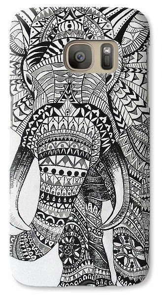Galaxy Case featuring the painting Tribal Elephant by Ashley Price