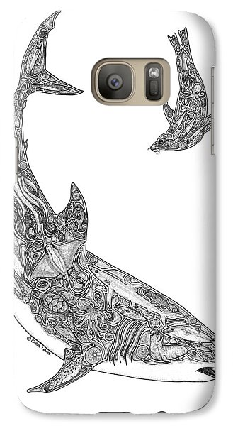 Tribal Great White And Sea Lion Galaxy S7 Case