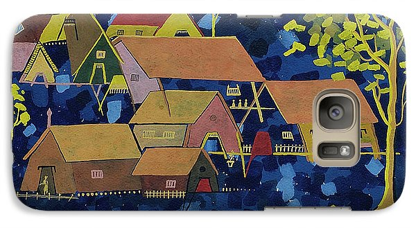 Galaxy Case featuring the painting Tribal Village by Vilas Malankar