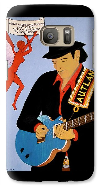 Galaxy Case featuring the painting Tribute To Carlos by Stephanie Moore
