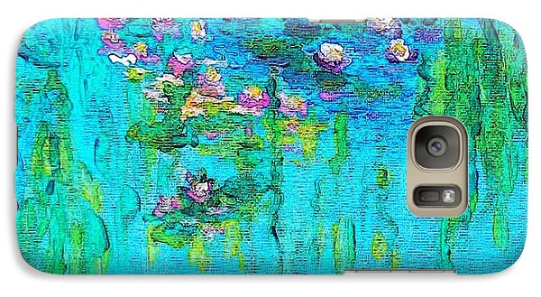 Galaxy Case featuring the painting Tribute To Monet by Holly Martinson