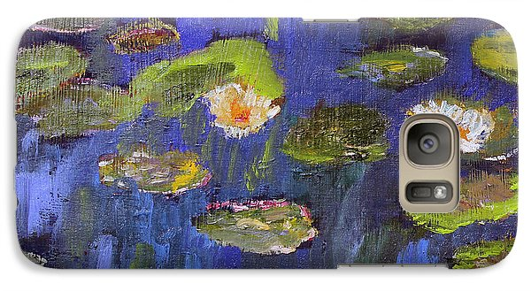 Galaxy Case featuring the painting Tribute To Monet by Michael Helfen