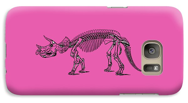Triceratops Dinosaur Tee Galaxy Case by Edward Fielding