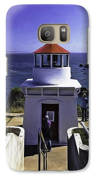 Galaxy Case featuring the photograph Trinidad Memorial Lighthouse by Diane Schuster