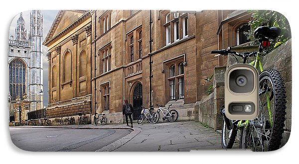 Galaxy Case featuring the photograph Trinity Lane Clare College Cambridge Great Hall by Gill Billington