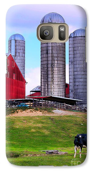 Galaxy Case featuring the photograph Trio Of Silos by Polly Peacock