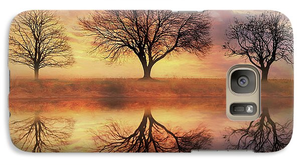Galaxy Case featuring the mixed media Trio Of Trees by Lori Deiter
