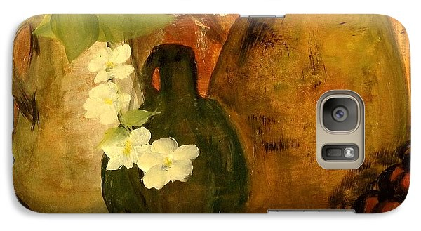 Galaxy Case featuring the painting Trio Vases by Kathy Sheeran