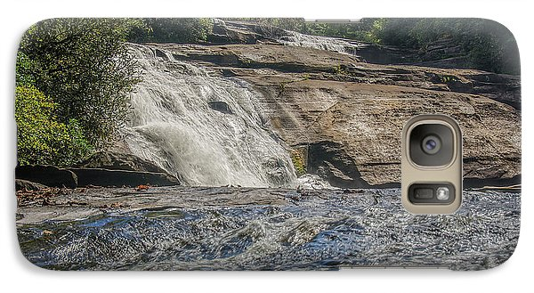 Galaxy Case featuring the photograph Triple Falls Second Tier by Steven Richardson