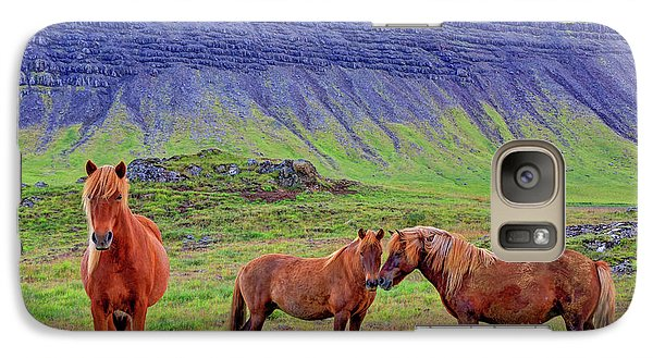 Galaxy Case featuring the photograph Triple Horses by Scott Mahon