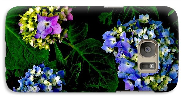 Galaxy Case featuring the photograph Triple Hydrangia In Spring by Marsha Heiken