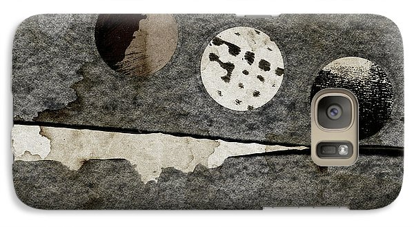 Galaxy Case featuring the photograph Triple Lunacy Abstract 1 by Carol Leigh