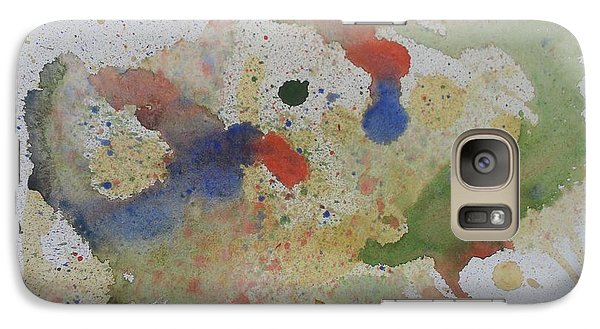 Galaxy Case featuring the painting Triple Rooster Race by Vicki  Housel