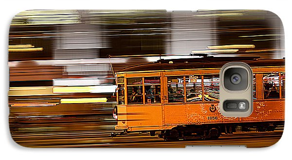 Galaxy Case featuring the photograph Trolley 1856 On The Move by Steve Siri