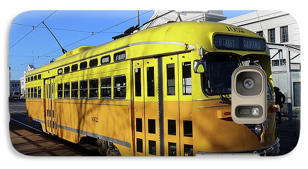 Galaxy Case featuring the photograph Trolley Number 1052 by Steven Spak