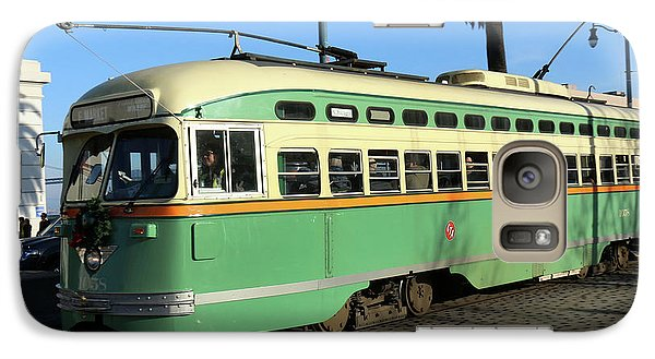 Galaxy Case featuring the photograph Trolley Number 1058 by Steven Spak