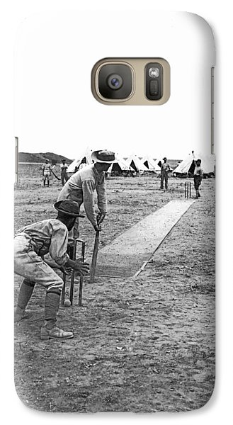 Troops Playing Cricket Galaxy Case by Underwood Archives