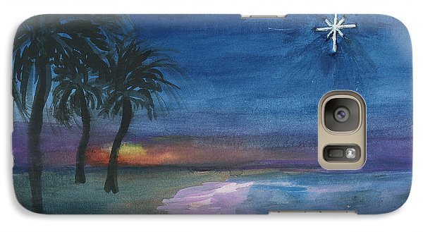 Galaxy Case featuring the painting Tropical Christmas by Donna Walsh