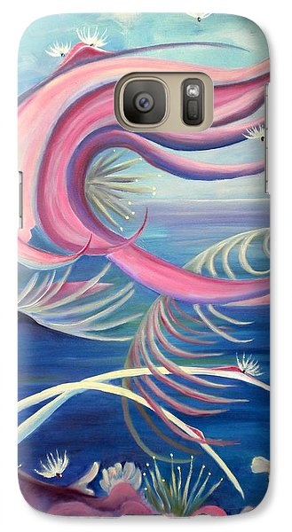 Galaxy Case featuring the painting Tropical Dancer by Renate Nadi Wesley