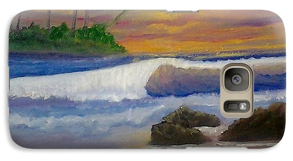Galaxy Case featuring the painting Tropical Dream by Holly Martinson